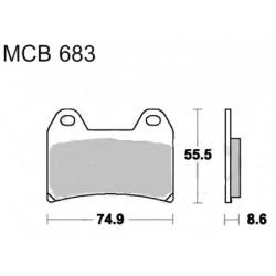 Plaquettes de frein - AVANT - TRW pour DUCATI 748-/996/600-750MONSTER
