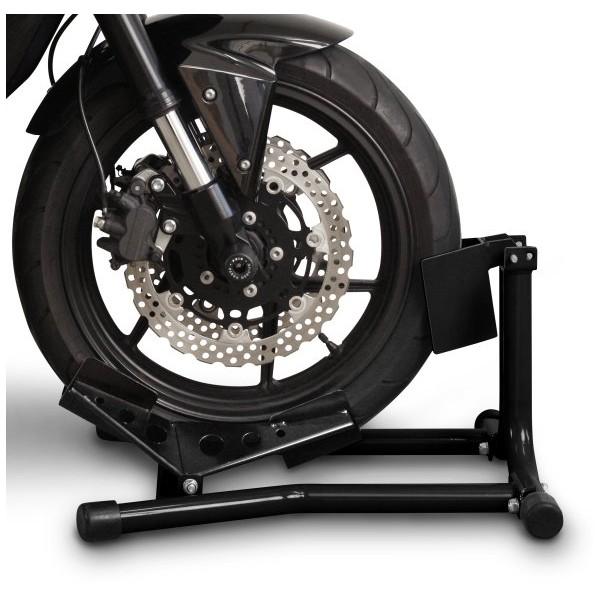 bloc roue moto noir b quille de roue avant bloc roue avant pour. Black Bedroom Furniture Sets. Home Design Ideas