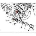 Joint de raccord de radiateur (11) - DUCATI 750 Sport