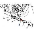 Bague d'étanchéité de raccord de radiateur (8) - Ducati 750 sport