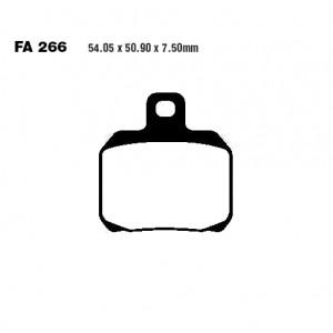 PLAQUETTES DE FREIN ARRIERE HH EBC - FA266HH - (54.05X50.90X7.50mm) - DUCATI