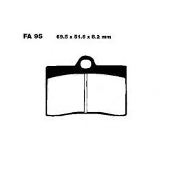 Plaquettes de freins avant 69.5x51.6x8.2mm EBC
